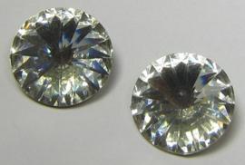 Resin Rivoli 14 mm Bright Crystal (per 2)