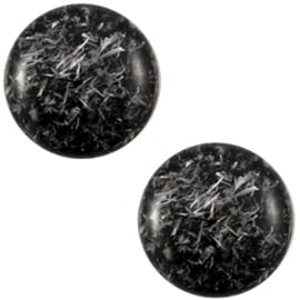Polaris Cabochon Munt 20 mm Feltro Shiny Nero Black (per stuk)