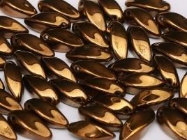 Twists 6 x 12 mm Jet Bronze (per 10)