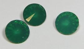 Resin Rivoli 12 mm Emerald Opal (per 3)