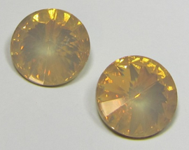 Resin Rivoli 16 mm Light Peach Opal (per 2)