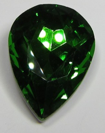 Glass Drop 20 x 30 mm Green (per 1)