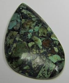 Cabochon Afrikaanse Turquoise Pyriet C1118 (per stuk)