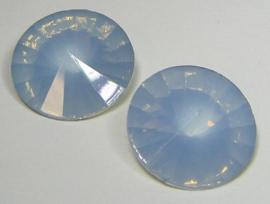 Resin Rivoli 18 mm Grey Sapphire Opal (per 2)