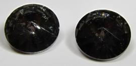 Glas Rivoli 18 mm Crystal Dark Grey (per stuk)