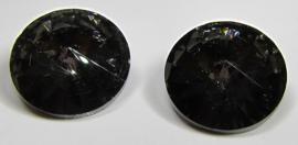 Glass Rivoli 18 mm Crystal Dark Grey (per 1)