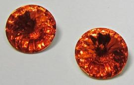 Resin Rivoli 12 mm Orange (per 3)