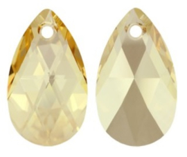 Swarovski Druppel 6106 28 mm Crystal Golden Shadow (per stuk)