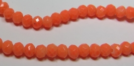 Faceted Rondelles 3 x 4 mm Luster Opaque Neon Salmon F757 (per 198 beads)
