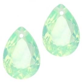 Resin Drop Pendant 10 x 14 mm Chrysolite Green Opal (per 2)