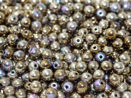 Glaskraal 6 mm Crystal Glittery Argentic (per 20)