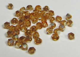Swarovski Bicone 3 mm Crystal Metallic Sunshine (per 50)