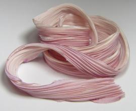 Shibori Zijde Rose Quartz (per 20 cm)