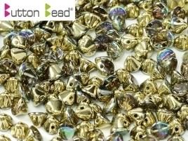 Button Bead Crystal Golden Rainbow (per 20)
