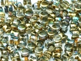 Diabolo Beads 4 x 6 mm Crystal Golden Rainbow (per 32)