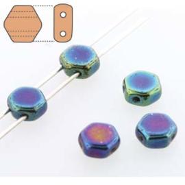 Honeycomb 6 mm Jet Blue Iris (per 30)