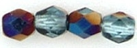 Fire Polished 3 mm Blue Iris - Aquamarine (per 75)