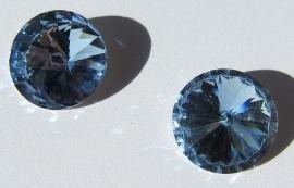 Glass Rivoli 16 mm Light Sapphire G512 (per 2)