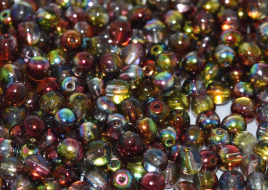 Druk Beads 8 mm Crystal Magic Apple (per 10)