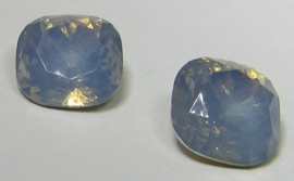 Resin Square 12 mm Grey Sapphire Opal (per 2)