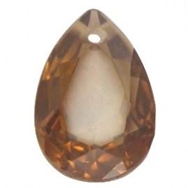 Resin Drop Pendant 18 x 25 mm Smoke Topaz Opal (per 1)