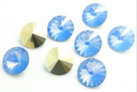 Resin Rivoli 8 mm SS39 Grey Sapphire Opal (per 5)