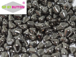 Spiky Button 4,5 x 6,5 mm Crystal Full Chrome (per 25)