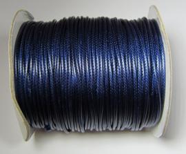 Waxkoord 2 mm Midnight Blue W135 (per meter)