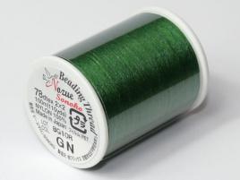 Nozue Sonoko Beading Thread Green (per 100 meter)