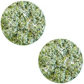 Polaris Cabochon Coin Flat 20 mm Goldstein Olivine Green (per 1)