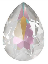 Swarovski Druppel 4320 14 x 10 mm Crystal Light Grey DeLite (per stuk)