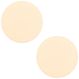 Polaris Cabochon Coin Flat 12 mm Matt Silk Beige (per 1)