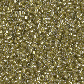 DB0908 Spkl Beige Lined Chartreuse (5 g.)