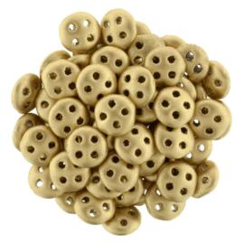 CzechMates QuadraLentils Matte Metallic Flax (per 5 gram)