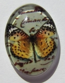 Cabochon Glass Butterfly Light Orange G397-E (per 1)