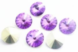 Resin Rivoli 16 mm Violet (per 2)