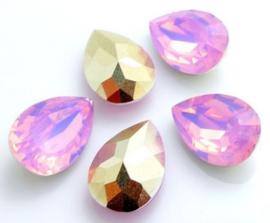 Resin Drop 10 x 14 mm Pink Opal (per 3)