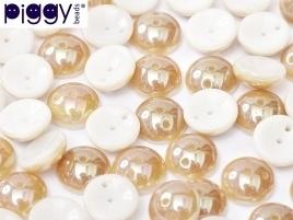 Piggy Beads 4 x 8 mm Alabaster Celsian (per 18)