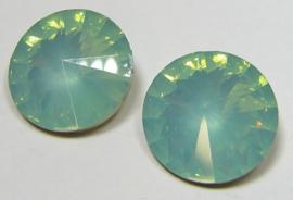 Resin Rivoli 16 mm Light Green Turquoise Opal (per 2)