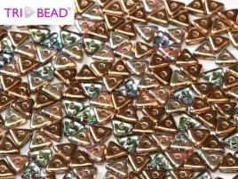 Tri-Bead Crystal Copper Rainbow (5 g.)