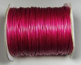 Waxkoord 2 mm Raspberry W118 (per meter)