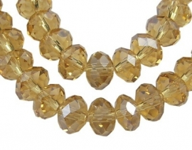Faceted Rondelles 6 x 8 mm Luster Gold F529 (per 71 beads)