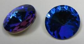 Glass Rivoli 14 mm Bermuda Blue (per 1)