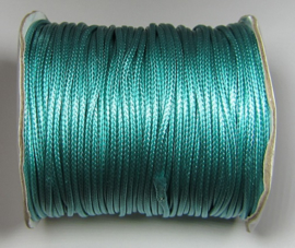 Waxed Cord 2 mm Dark Turquoise W117 (1 meter)