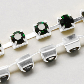 Cup Chain SS12 3 mm Emerald (meter)