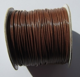 Waxed Cord 1 mm Brown W058 (1 meter)