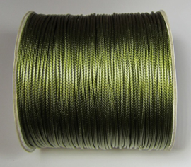 Waxkoord 1,5 mm Army Green W133 (per meter)