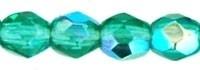 Fire Polished 3 mm Emerald AB (per 75)