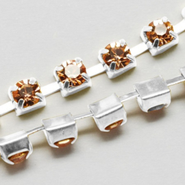 Cup Chain SS12 3 mm Light Peach (per meter)