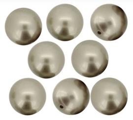 Swarovski Pearls 8 mm Platinum (per 10)